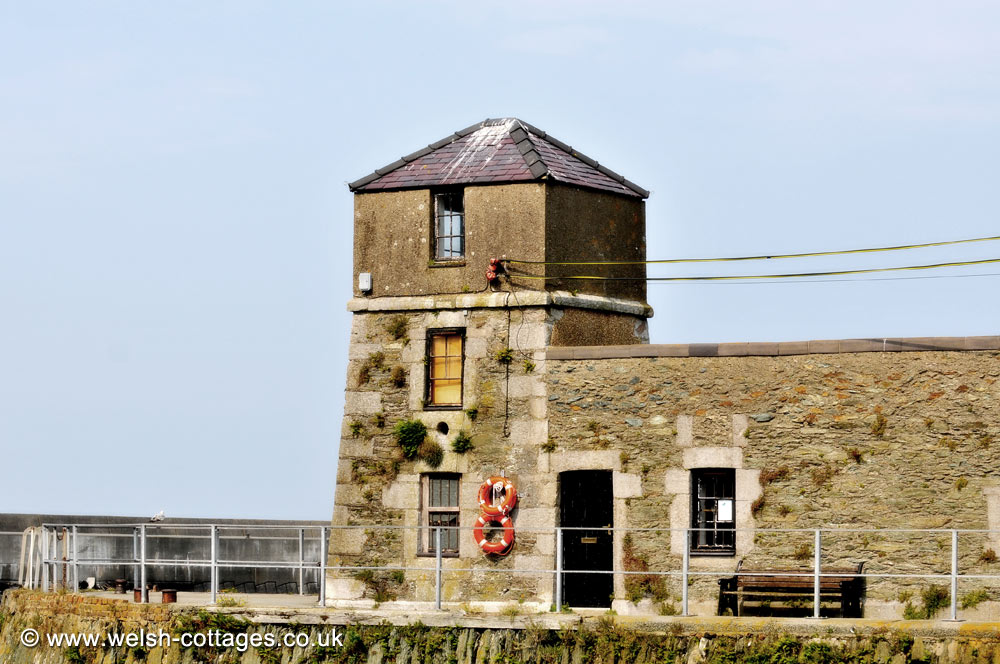 Building at Amlwch Harbour on Anglesey