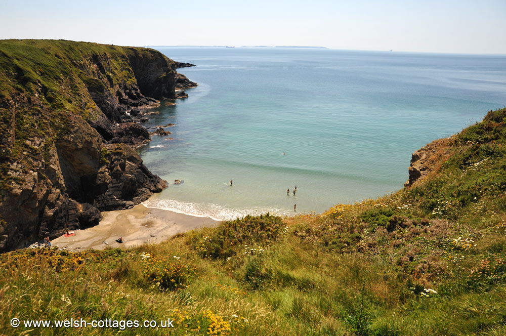 Caerfai Beach in Pembrokeshire