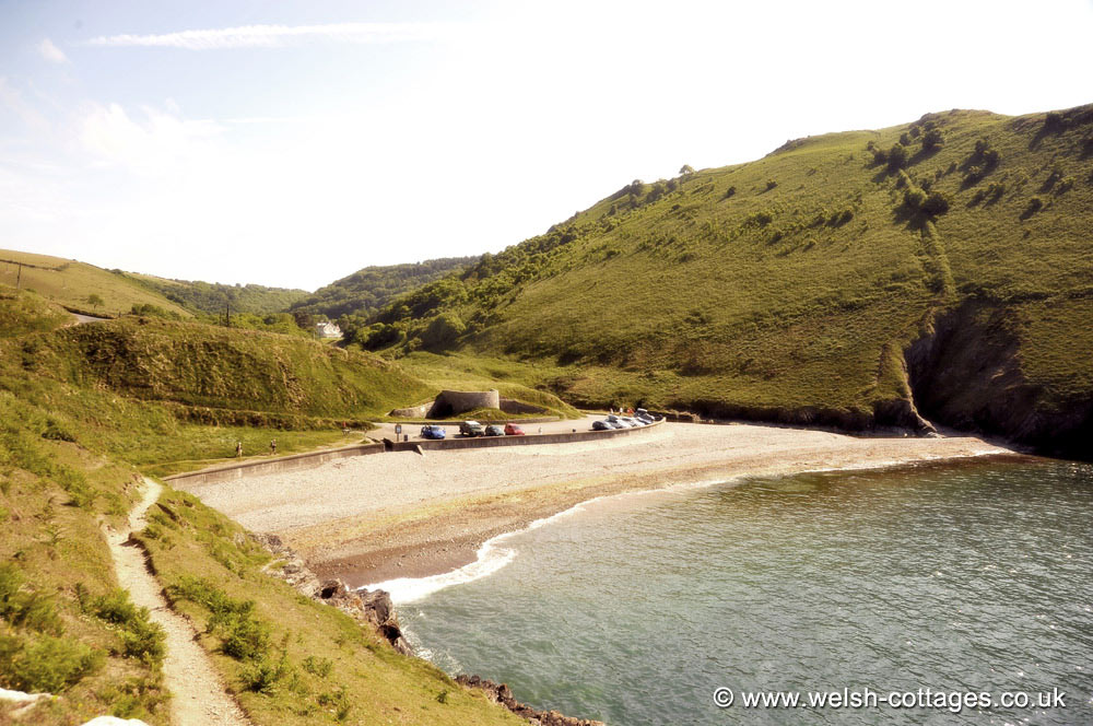 Cwmtydu Beach On Cardigan Bay Wales Photo S