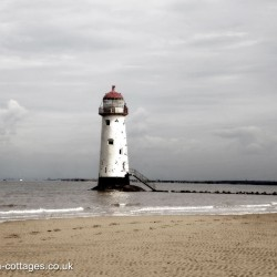 Point of Ayr Lighthouse in Flintshire