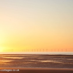 Sunset at Rhyl Beach in Denbighshire