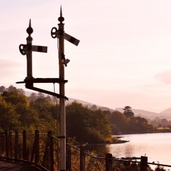 Sunset at Bala Lake Railway in Gwynedd