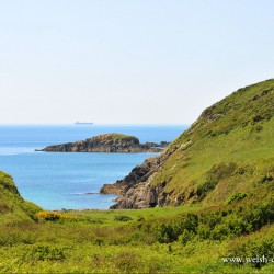 Caerbwdy Bay near St David's in Pembrokeshire