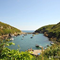 Porthclais Harbour near St David's in Pembrokeshire