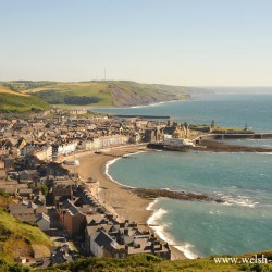 Aberystwyth from Constitution Hill, Cardgian Bay, Ceredigion
